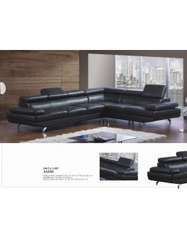 5 seater L shaped  leather sofa